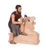"""Crousille """"Sculpteur de pierre"""" en fonte"""
