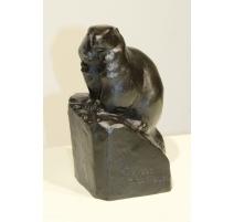 "Bronze ""Marmotte"" signé Robert HAINARD"