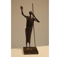 "Bronze ""Patron Saint de Zurich"" signé F. FISCHER"