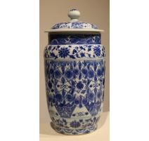 Pot à gingembre en porcelaine bleu-blanc