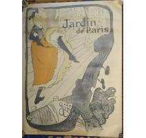 Poster Jardin de Paris par LAUTREC