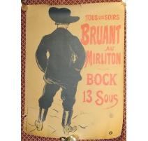 Poster Bruant au Mirliton par LAUTREC