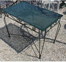Table de jardin rectangulaire en fer forgé