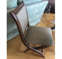 Chaise pliante recouverte de tissus en crin