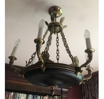 Lustre style Empire en bronze