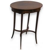 Pedestal table oval.