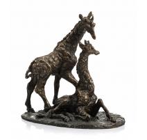 "Giraffes en bronze ""Belle Amie"" signé GODEFROY"