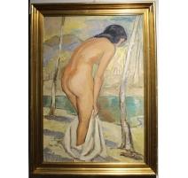 """Tableau """"Le bain"""" par GUERZONI"""
