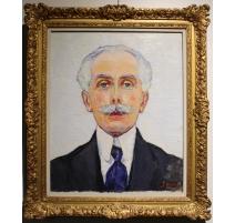 """Tableau """"Mr. Cuillery"""" signé S. GUERZONI 1920"""