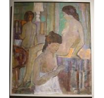 """Tableau """"Femmes"""" singé MUNK 1981"""