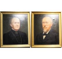 """Paire de tableaux """"Portraits"""""""