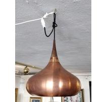 Suspension danoise en cuivre et palissandre