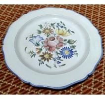 Assiette Fleurs en faïence de Balsthal