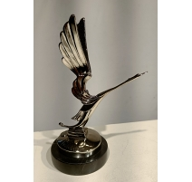 """Bronze """"Cigogne"""" Chromé reproduction de bouchon"""