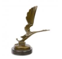 """Bronze """"Cigogne"""" reproduction de bouchon"""