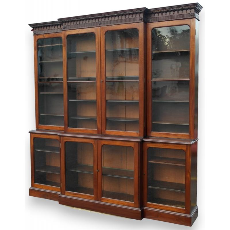 biblioth que avec 8 portes sur moinat sa antiquit s d coration. Black Bedroom Furniture Sets. Home Design Ideas