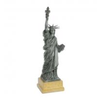 "Bronze ""Statue de la Liberté"", socle en travertin"