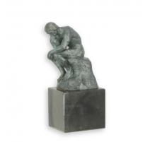 Bronze à patine verte Le penseur de Rodin