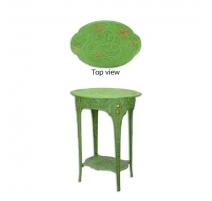 Table d'appoint Fleurs en fonte verte