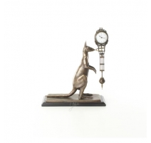 Pendule au kangourou en bronze