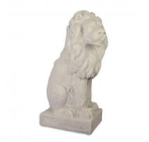 Lion en résine immitant la pierre