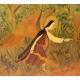 """Panneau peint """"Expulsion d'Eden"""""""