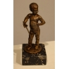 """Bronze """"Garçon à l'épée"""" signé L. KLEY"""