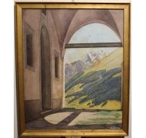 """Aquarelle """"Zermatt"""" signé Ch. SUTER"""