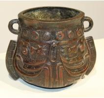 Vase en bronze japonnais