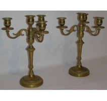 Pair of candlesticks Louis XVI