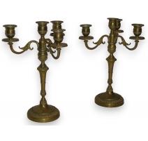 Paire de chandeliers Louis XVI