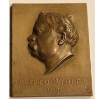 "Médaille ""Alfred Werner 1913"" signée J. VIBERT"