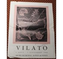 """Affiche """"Oiseau"""" signée Javier VILATO"""