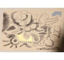 """Carte technique mixte """"Ciel"""" signée Javier VILATO"""