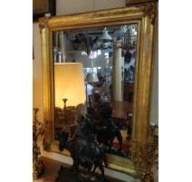 Miroir Louis-Philippe décor de fleurs