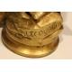 Coq en bronze signé P. LECOURTIER