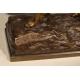Chien de chasse en bronze signé Donat MOTTE