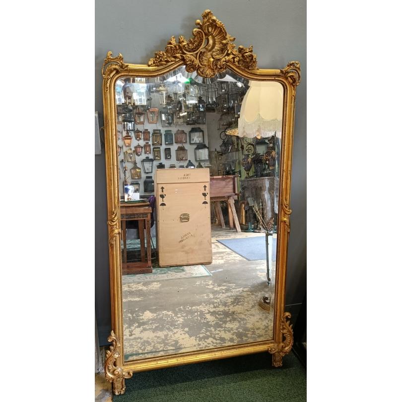 Miroir Napoléon III richement décoré