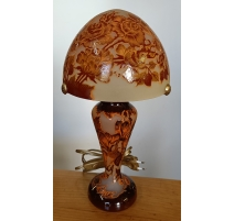 Lampe Olympe style GALLÉ Roses