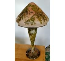 Lampe N°11 style GALLÉ Glycinnes