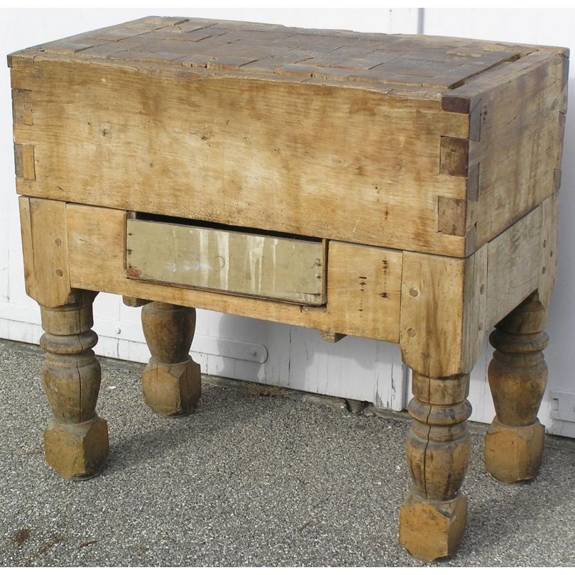 billot de boucher carr sur moinat sa antiquit s d coration. Black Bedroom Furniture Sets. Home Design Ideas