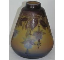 Vase conical, signed GALLÉ.