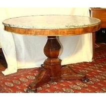 Side table French round Restoration.