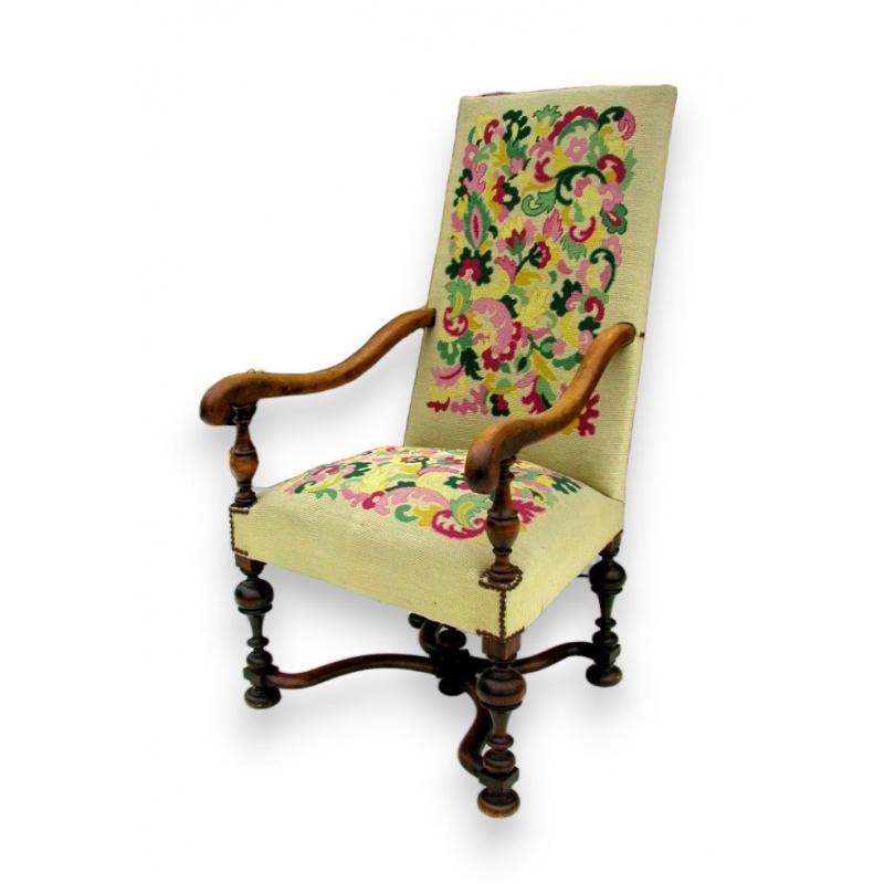 fauteuil style louis xiii sur moinat sa antiquit s. Black Bedroom Furniture Sets. Home Design Ideas