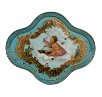 Dish with central angel decoration