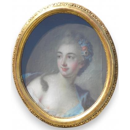 """Pastel ovale """"Jeune femme"""""""