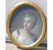 "Pastel oval ""Young woman"""