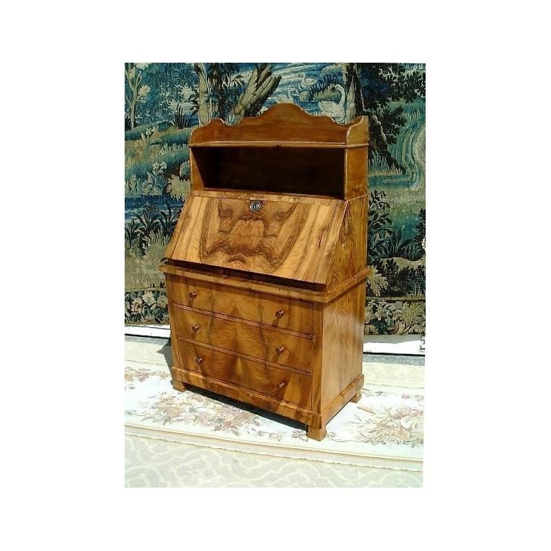 Petit bureau commode directoire avec 3 tiroirs sur moinat for Petit bureau tiroir
