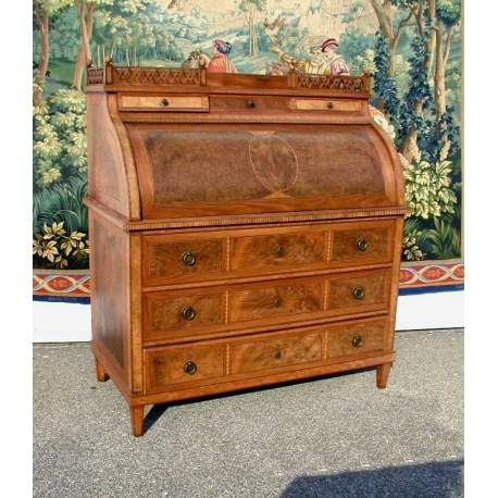 bureau commode cylindre louis xvi sur moinat sa antiquit s d coration. Black Bedroom Furniture Sets. Home Design Ideas