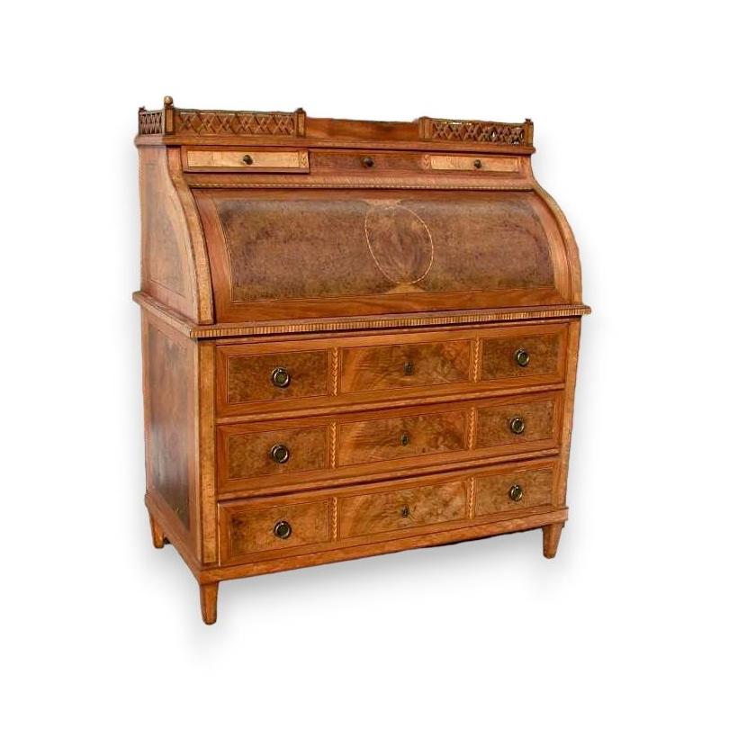 schreibtisch kommode zylinder louis xvi moinat sa antiquit s d coration. Black Bedroom Furniture Sets. Home Design Ideas